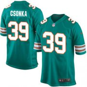 Wholesale Cheap Nike Dolphins #39 Larry Csonka Aqua Green Alternate Youth Stitched NFL Elite Jersey
