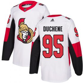 Wholesale Cheap Adidas Senators #95 Matt Duchene White Road Authentic Stitched Youth NHL Jersey