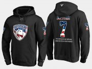 Wholesale Cheap Panthers #7 Colton Sceviour NHL Banner Wave Usa Flag Black Hoodie