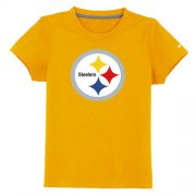 Wholesale Cheap Pittsburgh Steelers Sideline Legend Authentic Logo Youth T-Shirt Yellow