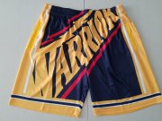 Wholesale Cheap Men's Golden State Warriors Black Big Face Mitchell Ness Hardwood Classics Soul Swingman Throwback Shorts
