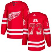 Wholesale Cheap Adidas Red Wings #73 Adam Erne Red Home Authentic Drift Fashion Stitched NHL Jersey