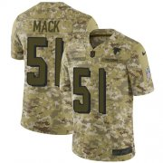Wholesale Cheap Nike Falcons #51 Alex Mack Camo Youth Stitched NFL Limited 2018 Salute to Service Jersey