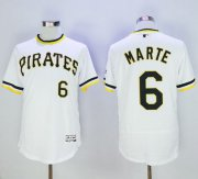 Wholesale Pirates #6 Starling Marte White Flexbase Authentic Collection Cooperstown Stitched Baseball Jersey