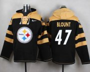 Wholesale Cheap Nike Steelers #47 Mel Blount Black Player Pullover NFL Hoodie