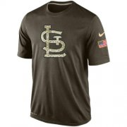 Wholesale Cheap Men's St.Louis Cardinals Salute To Service Nike Dri-FIT T-Shirt