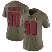 Wholesale Cheap Nike Falcons #90 Marlon Davidson Olive Women's Stitched NFL Limited 2017 Salute To Service Jersey