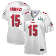 Wholesale Cheap Women's Kansas City Chiefs #15 Patrick Mahomes NFL Pro Line White Super Bowl LIV Champions Jersey
