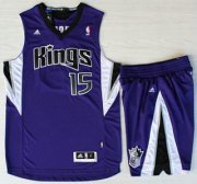Wholesale Cheap Sacramento Kings #15 DeMarcus Cousins Purple Revolution 30 Swingman Suits