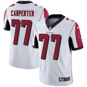 Wholesale Cheap Nike Falcons #77 James Carpenter White Men's Stitched NFL Vapor Untouchable Limited Jersey