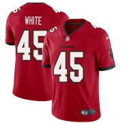 Wholesale Cheap Tampa Bay Buccaneers #45 Devin White Men's Nike Red Vapor Limited Jersey