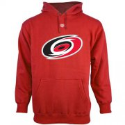 Wholesale Cheap Carolina Hurricanes Old Time Hockey Big Logo with Crest Pullover Hoodie Red