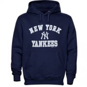 Wholesale Cheap New York Yankees Fastball Fleece Pullover Navy Blue MLB Hoodie