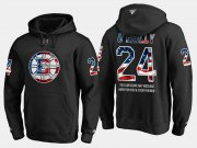 Wholesale Cheap Bruins #24 Terry O'reilly NHL Banner Wave Usa Flag Black Hoodie