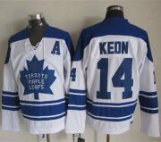 Wholesale Maple Leafs #14 Dave Keon White CCM Throwback Third Stitched NHL Jersey