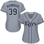 Wholesale Cheap Rays #39 Kevin Kiermaier Grey Road Women's Stitched MLB Jersey