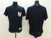 Wholesale Cheap Yankees Blank Navy Blue Flexbase Authentic Collection Stitched MLB Jersey
