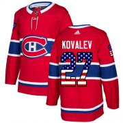 Wholesale Cheap Adidas Canadiens #27 Alexei Kovalev Red Home Authentic USA Flag Stitched NHL Jersey