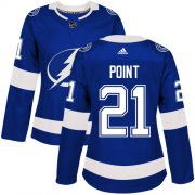 Wholesale Cheap Adidas Lightning #21 Brayden Point Blue Home Authentic Women's Stitched NHL Jersey