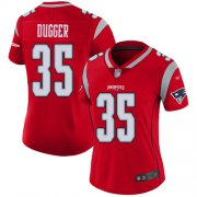 Wholesale Cheap Nike Patriots #35 Kyle Dugger Red Women's Stitched NFL Limited Inverted Legend Jersey