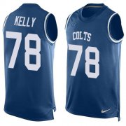 Wholesale Cheap Nike Colts #78 Ryan Kelly Royal Blue Team Color Men's Stitched NFL Limited Tank Top Jersey