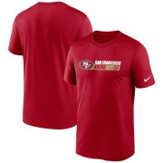Wholesale Cheap San Francisco 49ers Nike Fan Gear Team Conference Legend Performance T-Shirt Scarlet