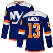 Wholesale Cheap Adidas Islanders #13 Mathew Barzal Blue Alternate Authentic Stitched NHL Jersey