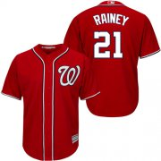 Wholesale Cheap Nationals #21 Tanner Rainey Red New Cool Base Stitched MLB Jersey