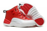 Wholesale Cheap Kids' Air Jordan 12 Retro Shoes Red/white-black