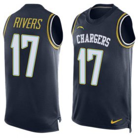Wholesale Cheap Nike Chargers #17 Philip Rivers Navy Blue Team Color Men\'s Stitched NFL Limited Tank Top Jersey