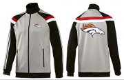 Wholesale NFL Denver Broncos Team Logo Jacket Grey
