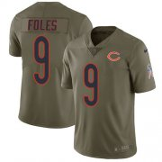 Wholesale Cheap Nike Bears #9 Nick Foles Olive Youth Stitched NFL Limited 2017 Salute To Service Jersey