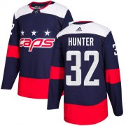 Wholesale Cheap Adidas Capitals #32 Dale Hunter Navy Authentic 2018 Stadium Series Stitched NHL Jersey