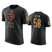 Wholesale Cheap Bears #58 Roquan Smith Black Men's Black History Month T-Shirt