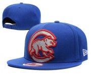Wholesale Cheap MLB Chicago Cubs Snapback Ajustable Cap Hat GS 3