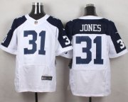 Wholesale Cheap Nike Cowboys #31 Byron Jones White Thanksgiving Throwback Men's Stitched NFL Elite Jersey