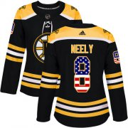 Wholesale Cheap Adidas Bruins #8 Cam Neely Black Home Authentic USA Flag Women's Stitched NHL Jersey