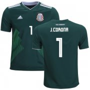 Wholesale Cheap Mexico #1 J.Corona Home Kid Soccer Country Jersey