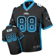 Wholesale Cheap Nike Panthers #88 Greg Olsen Black Team Color Youth Stitched NFL Elite Drift Fashion Jersey