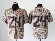 Wholesale Cheap Nike Seahawks #24 Marshawn Lynch Camo Men's Stitched NFL New Elite USMC Jersey