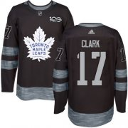 Wholesale Cheap Adidas Maple Leafs #17 Wendel Clark Black 1917-2017 100th Anniversary Stitched NHL Jersey