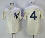 Wholesale Cheap Mitchell And Ness 1939 Yankees #4 Lou Gehrig Cream Throwback Stitched MLB Jersey