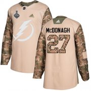 Wholesale Cheap Adidas Lightning #27 Ryan McDonagh Camo Authentic 2017 Veterans Day Youth 2020 Stanley Cup Final Stitched NHL Jersey