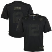 Cheap Tampa Bay Buccaneers #12 Tom Brady Nike Youth 2020 Salute to Service Game Jersey Black