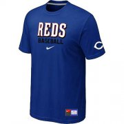 Wholesale Cheap Cincinnati Reds Nike Short Sleeve Practice MLB T-Shirt Blue