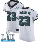 Wholesale Cheap Nike Eagles #23 Rodney McLeod Jr White Super Bowl LII Men's Stitched NFL Vapor Untouchable Elite Jersey