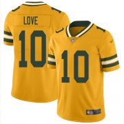 Wholesale Cheap Nike Packers #10 Jordan Love Gold Youth Stitched NFL Limited Inverted Legend Jersey