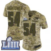 Wholesale Cheap Nike Patriots #54 Dont'a Hightower Camo Super Bowl LIII Bound Women's Stitched NFL Limited 2018 Salute to Service Jersey