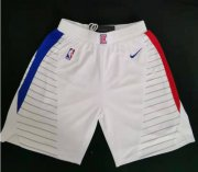 Wholesale Cheap Clippers White Swingman Shorts