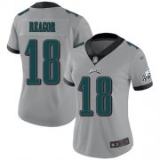 Wholesale Cheap Nike Eagles #18 Jalen Reagor Silver Women's Stitched NFL Limited Inverted Legend Jersey